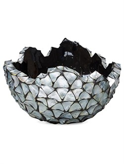 Кашпо Shell bowl mother of pearl silver-blue - фото 13891