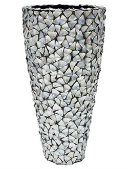 Кашпо Shell planter mother of pearl silver-blue - фото 13901
