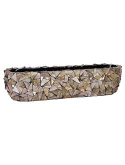 Кашпо Shell table top planter mother of pearl - фото 13902
