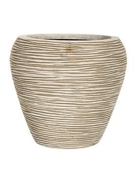 Кашпо Capi nature vase tapering round rib ivory - фото 15044