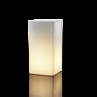 Светящееся Кашпо Куб высокий Чио (Teraplast) - фото 33134