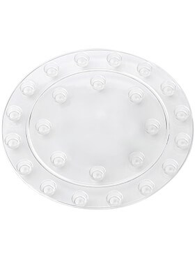 Кашпо Floorprotector round transparent подставка под кашпо (Elho) - фото 33925
