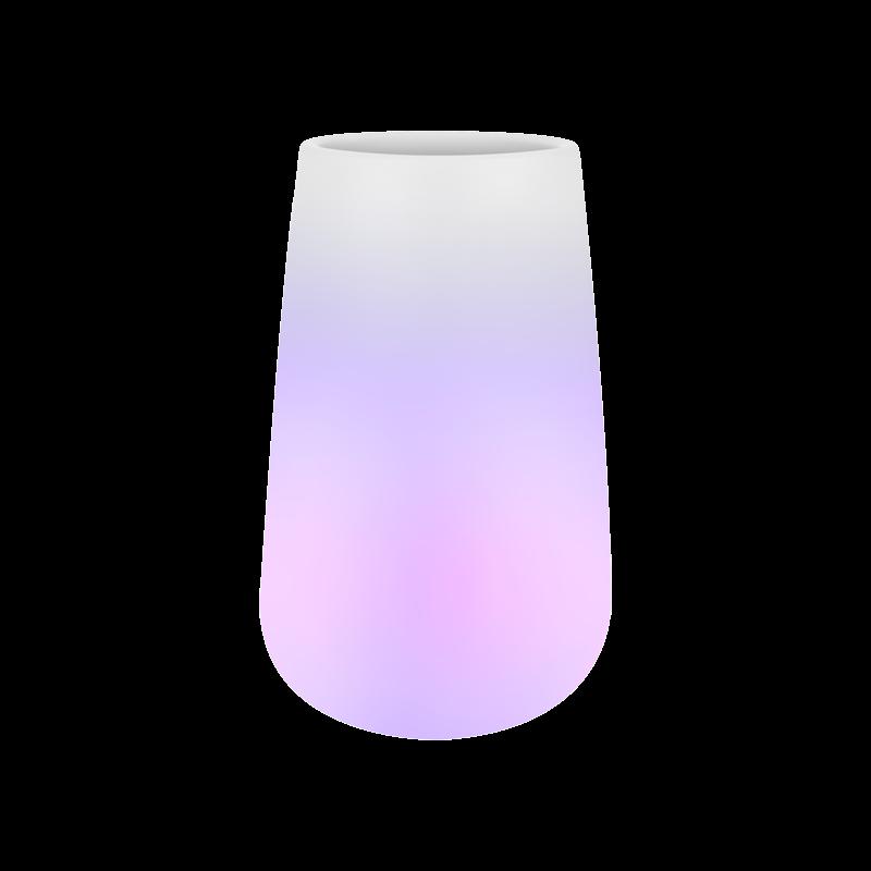 Светящееся кашпо Pure® cone smart led light transparent (Elho) - фото 33939
