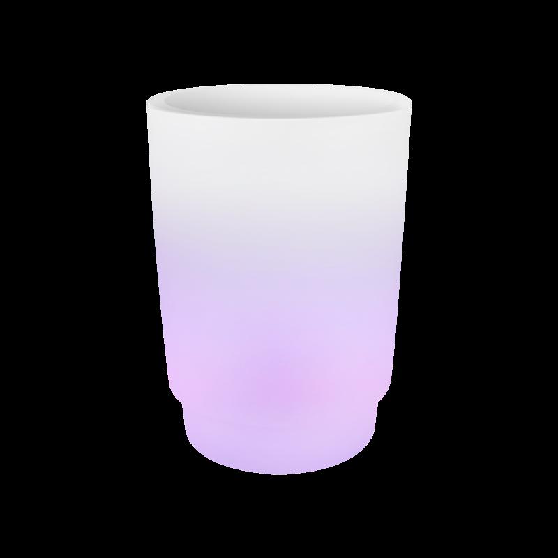 Светящееся кашпо Pure® grade smart led light transparent (Elho) - фото 33940