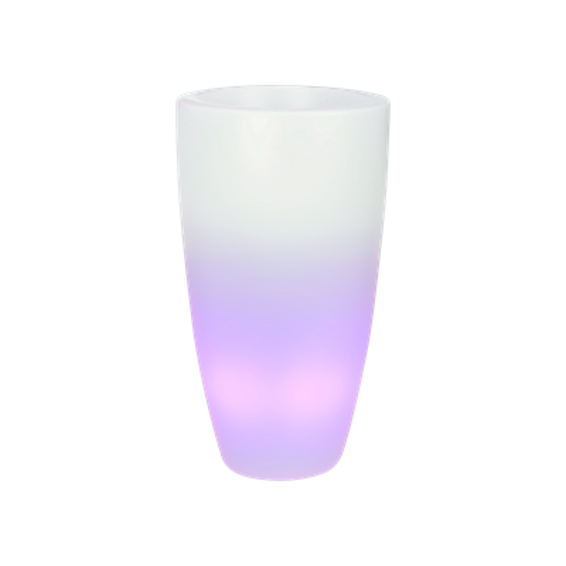 Светящееся кашпо Pure® soft round high smart led transparant (Elho) - фото 33941
