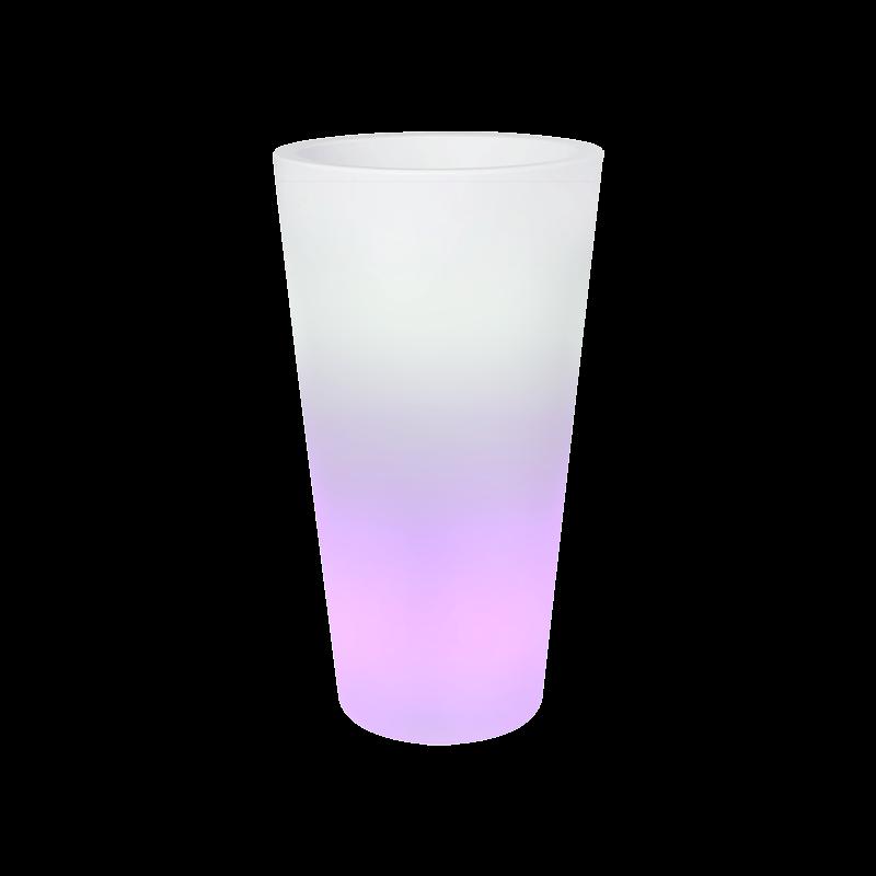Светящееся кашпо Pure® straight high smart led transparent (Elho) - фото 33942