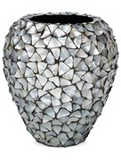 Кашпо Shell planter mother of pearl silver-blue
