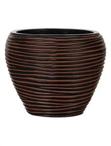 Кашпо Capi nature vase taper round rib
