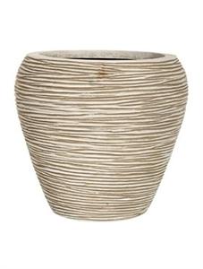 Кашпо Capi nature vase tapering round rib ivory