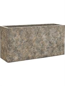 Кашпо Luxe lite stone luna rectangle grey (Nieuwkoop Europe)
