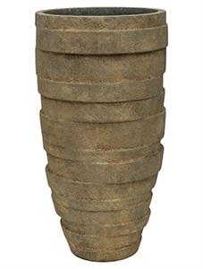 Кашпо Luxe lite stone varuna partner grey конус (Nieuwkoop Europe)