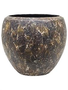 Кашпо Oceana cracked pearl couple black brown (Nieuwkoop Europe)