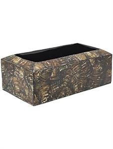 Кашпо Oceana cracked pearl table planter rectangle black brown