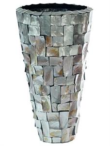 Кашпо Oceana pearl steel partner brown grey (Nieuwkoop Europe)