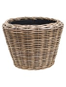 Кашпо Drypot rattan round grey outdoor (Nieuwkoop Europe)