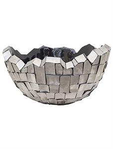 Кашпо Oceana steel bowl grey (Nieuwkoop Europe)