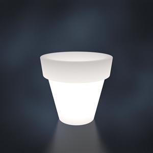 Кашпо  BASE белый с подсветкой