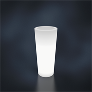 Кашпо  BELLO белый с подсветкой