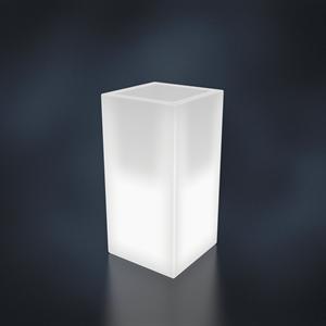 Кашпо CUBO ALTO белый с подсветкой