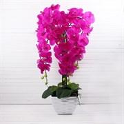 Орхидея латекс в интер. кашпо малиновая 7 цветов (искусственная) Альсид