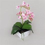 Орхидея в интер.кашпо розовая (искусственная) Альсид