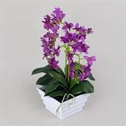 Орхидея в интер.кашпо фиолетовая (искусственная) Альсид