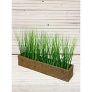 Трава в кокосовом боксе зелёная (искусственная) Альсид