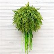 Кокедама папоротник с зеленым полн.заполнен. (искусственная) Альсид