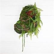 Кочка с зеленью для декора большая (искусственная) Альсид