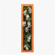Фитокартина в оранжевой раме с орхидеями (искусственная) Альсид
