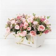 Французский балкон Роза мелкая розовая (искусственный) Альсид