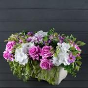 Французский балкон Роза мелкая фиолетовая (искусственный) Альсид