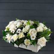 Французский балкон Роза белый (искусственный) Альсид