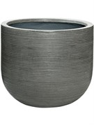 Кашпо Fiberstone ridged dark grey cody horizontal (Pottery Pots)