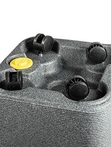 Кашпо Otium wheels linea (Elho)