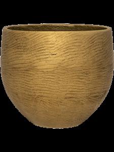 Кашпо Rough orb xxl metallic gold (Pottery Pots)