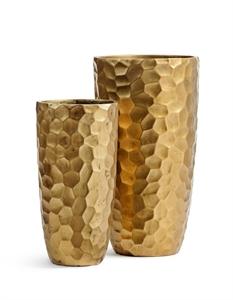 Кашпо Treez Ergo Comb Высокий закругленный конус застаренное золото