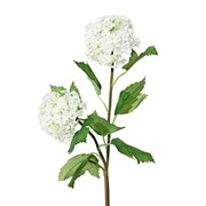 Ветка калина с цветами белая (искусственная) GL