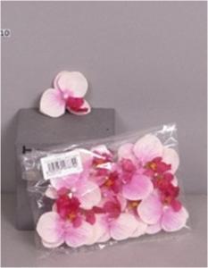 Орхидеи кремовые/лавандовые цветы 12 шт. (искусственные) GL