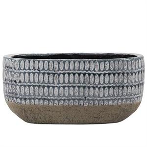 Кашпо керамическое Elin Овал низкое