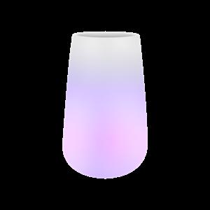 Светящееся кашпо Pure® cone smart led light transparent (Elho)