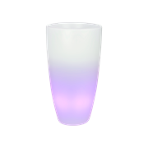 Светящееся кашпо Pure® soft round high smart led transparant (Elho)