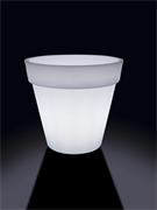 Кашпо Luci lights easy round cache-pot with light (Nieuwkoop Europe)