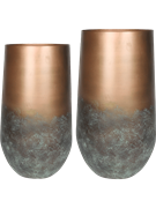 Кашпо Elisa vase mystic bronze набор 2 шт. (Nieuwkoop Europe)