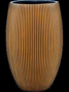 Кашпо Capi nature groove vase elegant deluxe black gold