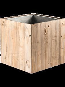 Кашпо Marrone cube dark flame wood (Nieuwkoop Europe)