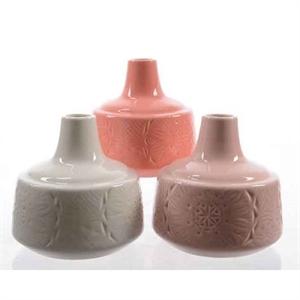 Ваза керамическая D10 H10 см белая/розовая/коралловая ассорти