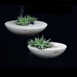 Ваза керамическая Рива Круг D42/20 H11/6 см кремовая