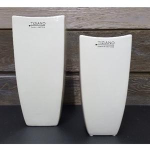 Ваза керамическая Силано L9,5 W9,5 H20 см кремовая