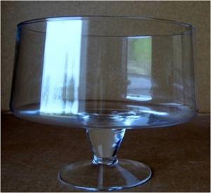 Ваза стеклянная D24 H20 см